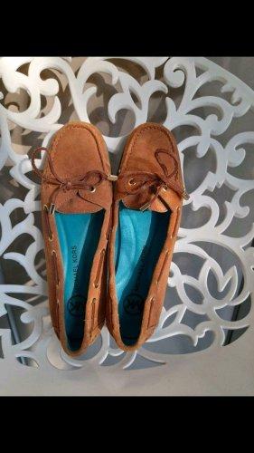 Michael Kors Zapatos de marinero coñac-marrón
