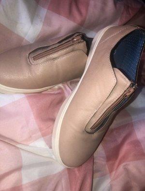Sneakersy wciągane w kolorze różowego złota
