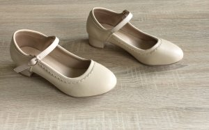 Chaussures Mary Jane beige clair
