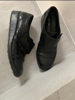 ara elegance Mokasyny czarny-czarno-brązowy Skóra