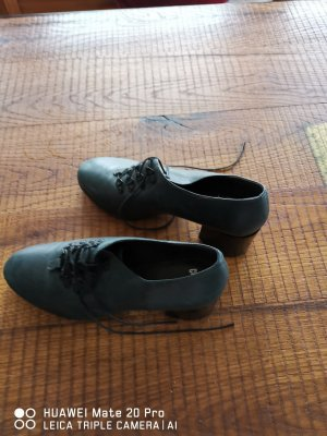 Camper Lace Shoes dark green leather