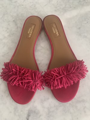 Aquazzura Flip-Flop Sandals raspberry-red