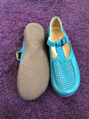 unbranded Ballerines à lacets turquoise