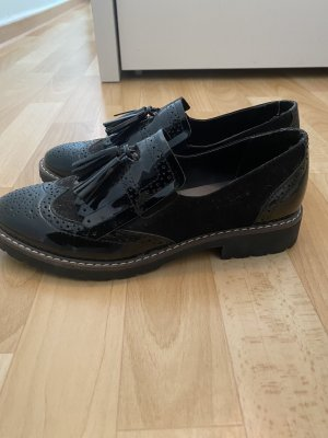 Ballerinas with Toecap black