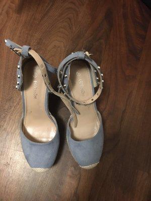 DeeZee Heel Pantolettes cornflower blue