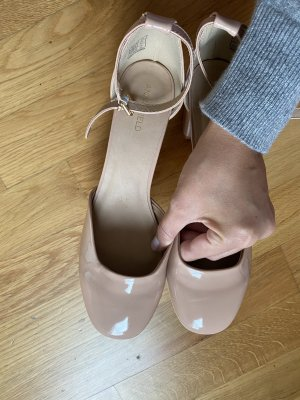 Schuhe Ballerina Mary jane Pumps 39 nude rosa Anna Field