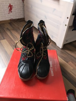 Görtz Shoes Platform Boots dark blue leather