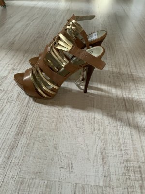 Guess High Heels cognac-coloured-gold-colored