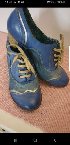 Schuhe, Boots,Leder,Blau, 37,wie neu