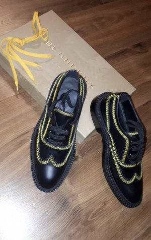 Burberry Lace Shoes black-yellow