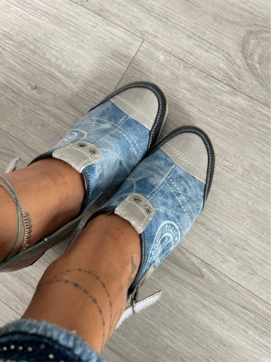 Ankle Boots light grey-cornflower blue