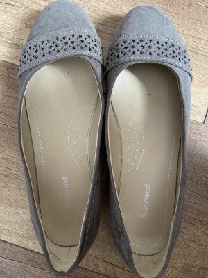 Graceland Peep Toe Ballerinas grey