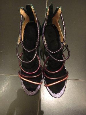Zara Flip-Flop Sandals forest green-black