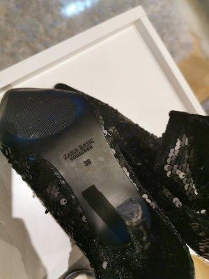 Zara Basic Bottines à enfiler noir