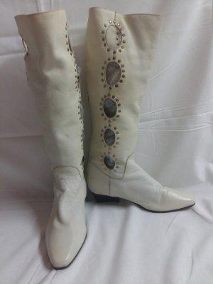 Botas estilo vaquero blanco Cuero