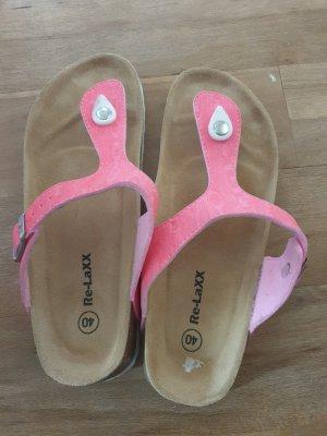 Sandalo toe-post rosa