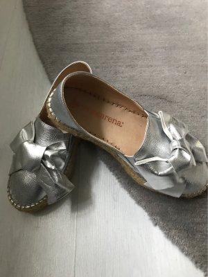 Macarena Moccasins silver-colored