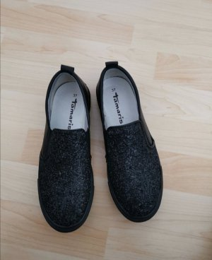Tamaris Peep Toe Ballerinas black