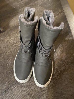 100% Fashion Bottine d'hiver gris-argenté