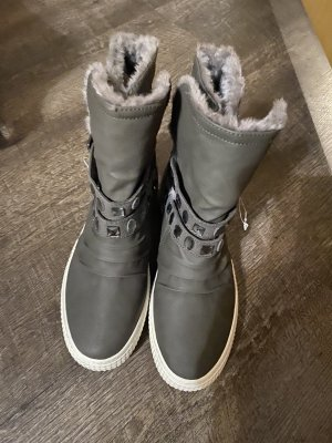 100% Fashion Winter boots grijs-zilver