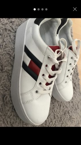Tommy Jeans Sneaker con tacco bianco-rosso