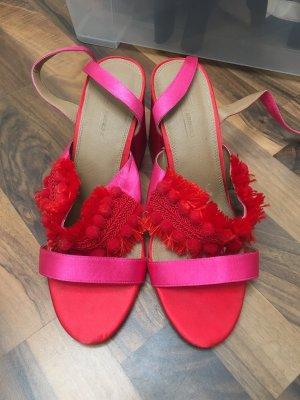 Sandales Dianette rouge fluo