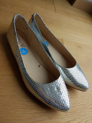 Caprice Lakleren ballerina's zilver