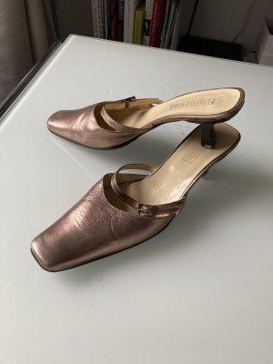FLORENCIA Mule à talon bronze