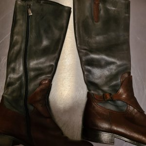 Riding Boots brown red-slate-gray