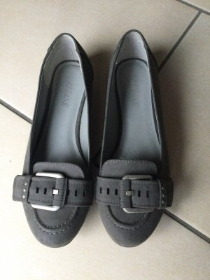 Ariane Zapatos formales sin cordones gris-negro