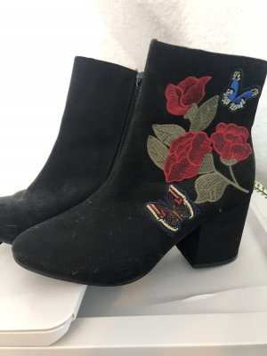 Short Boots black-red