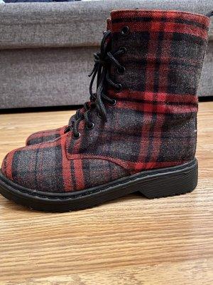 Pimkie Low boot rouge foncé-gris foncé