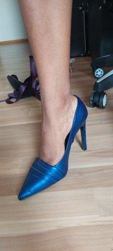 Zara Trafaluc Heel Boots cadet blue