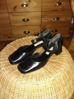 Janet D Mary Jane Ballerinas black leather