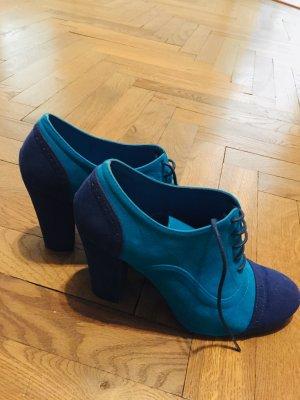 Schuhe Gr. 40 Mary Janes blau türkis ZARA Budapester Businessschuhe COS Arket High Heels Vintage Boho Schnürschuhe