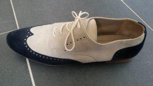 Claudia Obert Lace Shoes oatmeal-dark blue
