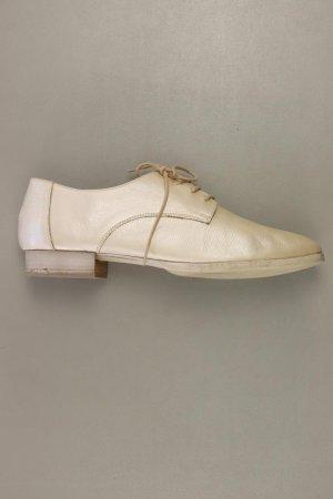 Schuhe Größe 40 creme aus Leder