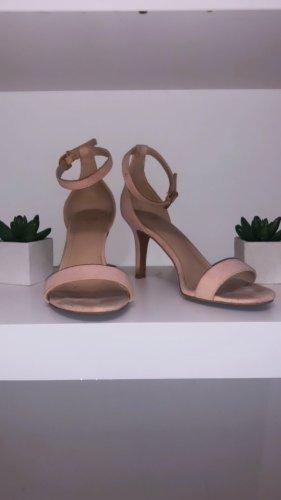 Schuhe heels sandalen sandaletten beige rose pink rosa