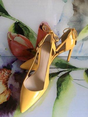 Schuhe High Heels Pumps Absatz ZARA NEU 37 gelb