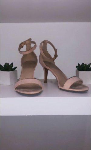 Schuhe high heels pumps sandaletten h&m pink rosa rose