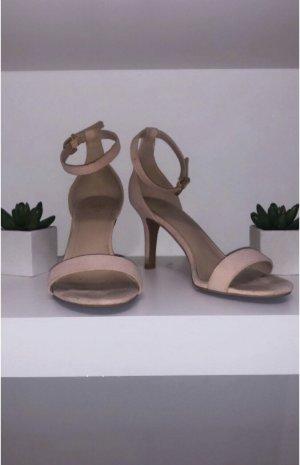 Schuhe high heels sandalen sandaletten rose rose h&m