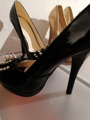 Belle Woman Sandales à talon haut noir