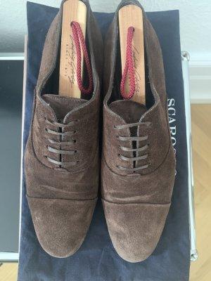 Scarosso Zapatos estilo Oxford marrón-negro