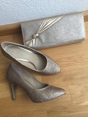 Schuhe in Gr. 38 gold