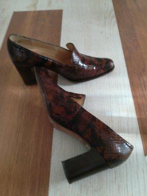 Buty z zabudowanym przodem czarny-brązowy