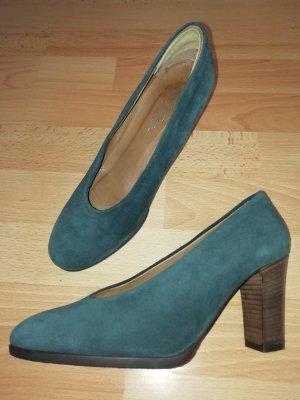 Schuhe in Wildleder, petrol_NEU