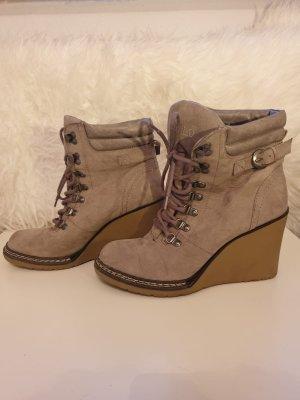 Schuhe Keilabsatz Stiefeletten Absatz von GLD GR. 40