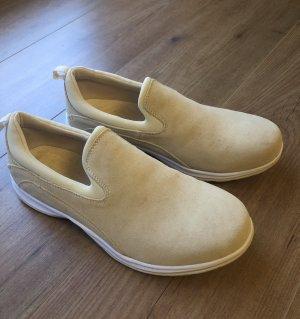 Lands' End Chaussures bateau beige-blanc