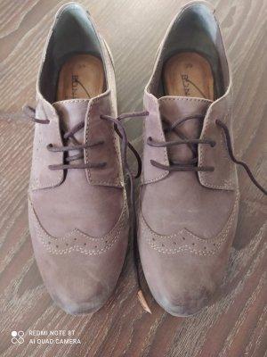 Bonita Wingtip Shoes taupe leather