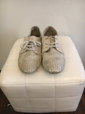 Schuhe Leder Helgrau